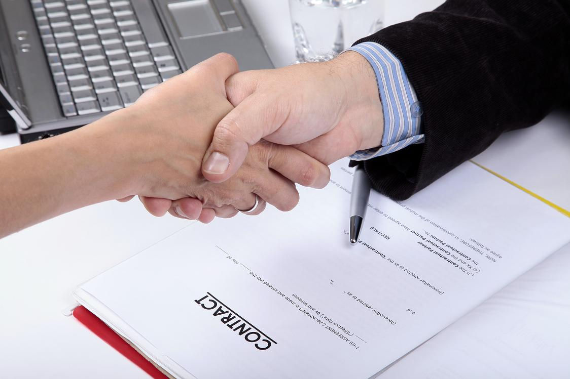 Deal. handshake of Business People
